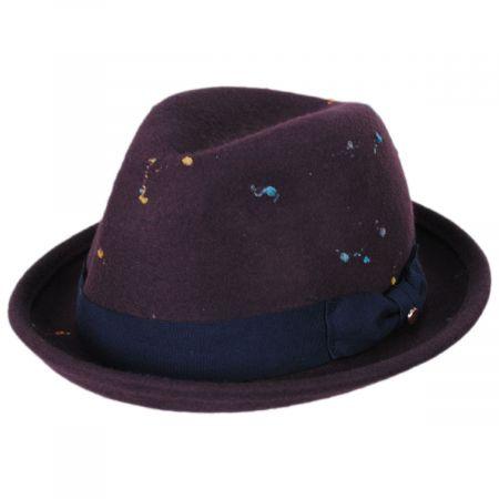 EK Collection by New Era Slub Wool Felt Classic Fedora Hat