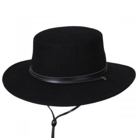 Hat Western Country Black Jack Felt USA Black