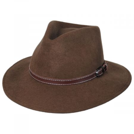 Leather Band Wool Felt Fedora Hat