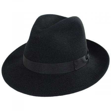 Stefeno Terrell Crushable Wool Felt Fedora Hat