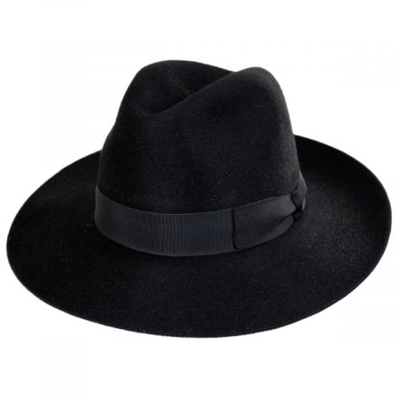 Buck Fur Felt Wide Brim Fedora Hat
