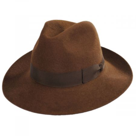 Buck Fur Felt Wide Brim Fedora Hat alternate view 13