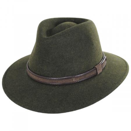 Hiker Wool Felt Safari Fedora Hat alternate view 69