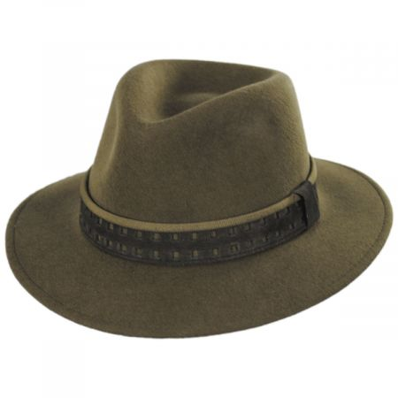 Cliff Crushable Wool Felt Fedora Hat alternate view 9