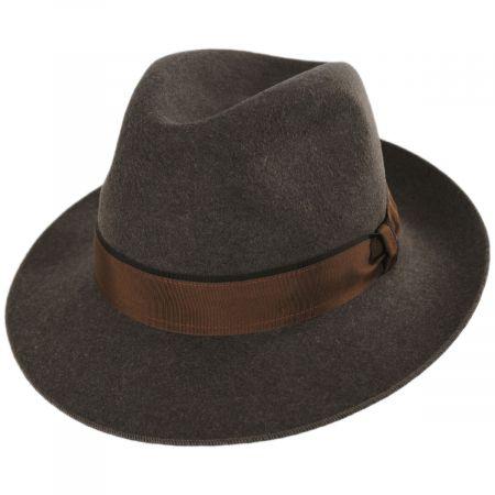 Stefeno Desmond Crushable Wool Felt Fedora Hat