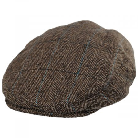 Jaxon Hats Gibson Herringbone Plaid Wool Blend Ivy Cap