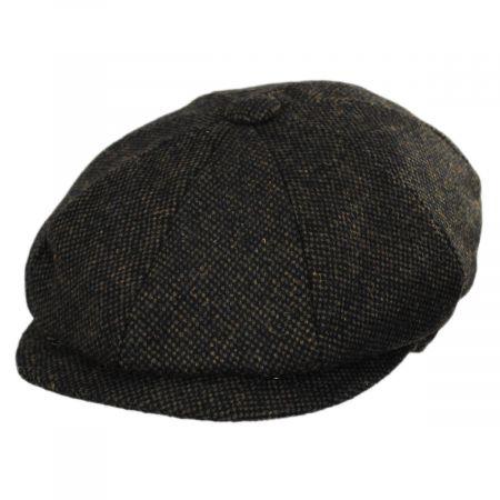 Jaxon Hats Sidecar Nailhead Wool Blend Newsboy Cap