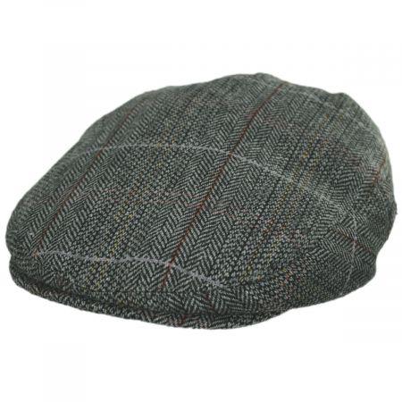 Jaxon Hats Regent Herringbone Plaid Wool Blend Ivy Cap