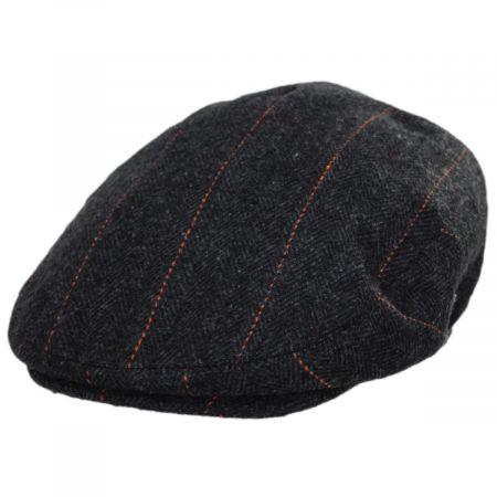 Jaxon Hats Negroni Herringbone Plaid Wool Blend Ivy Cap