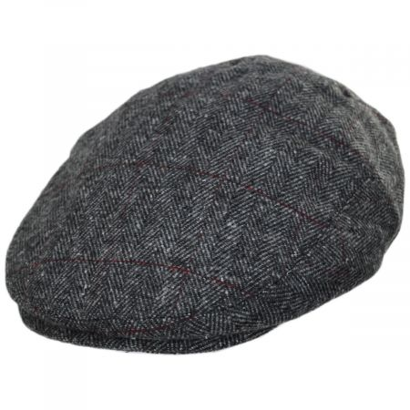 Jaxon Hats Cosmo Herringbone Plaid Wool Blend Ivy Cap