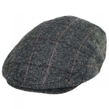 Jaxon Hats Vesper Herringbone Plaid Wool Blend Ivy Cap