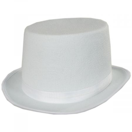 White Costume Felt Top Hat