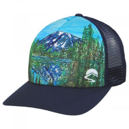 Alpine Reflection Trucker Snapback Baseball Cap