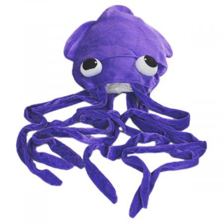 Giant Plush Squid Hat alternate view 4