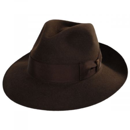 Borsalino Alessandria Shaved Fur Felt Wide Brim Fedora Hat