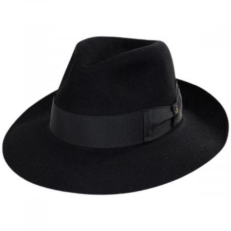 Alessandria Shaved Fur Felt Wide Brim Fedora Hat