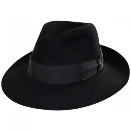 Alessandria Shaved Fur Felt Wide Brim Fedora Hat alternate view 5