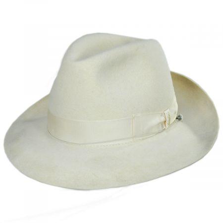 Borsalino Superiore Bellagio Fur Felt Fedora Hat