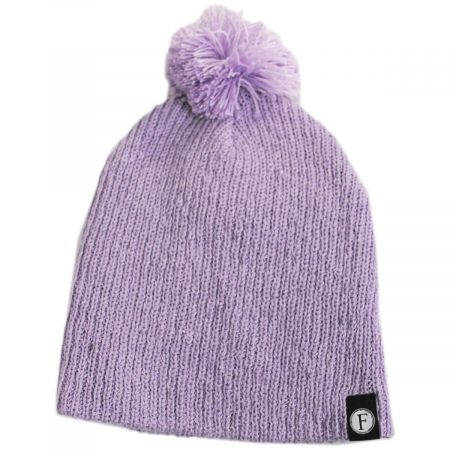 Kids' Juliet Pom Cotton Blend Beanie Hat