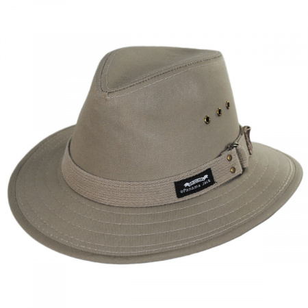Panama Jack Canvas Cotton Safari Fedora Hat