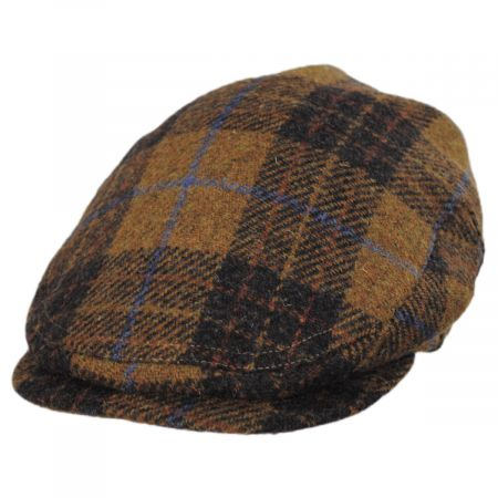 Stefeno Baldwin Harris Tweed Plaid Wool and Cotton Ivy Cap