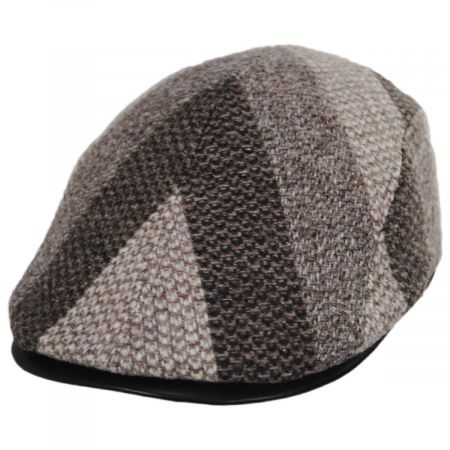Stefeno Edgar Wool and Leather Ivy Cap