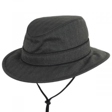 Alpine Herringbone Earflap Fedora Hat alternate view 1