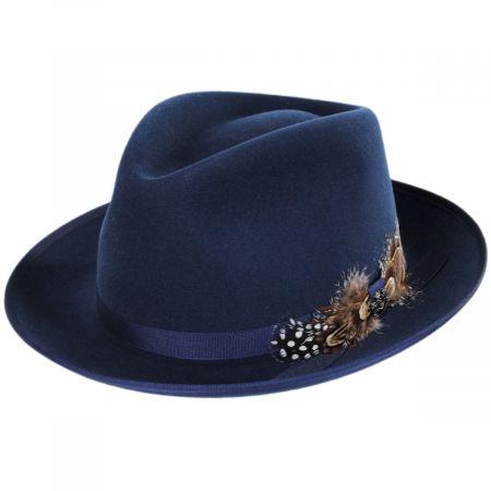 Aviator Merino Wool Felt Fedora Hat
