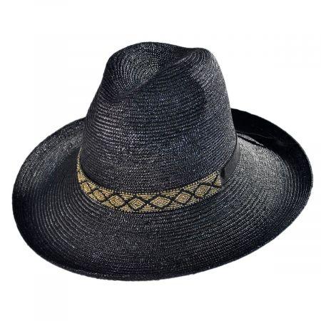Solitaire Milan Straw Fedora Hat alternate view 1