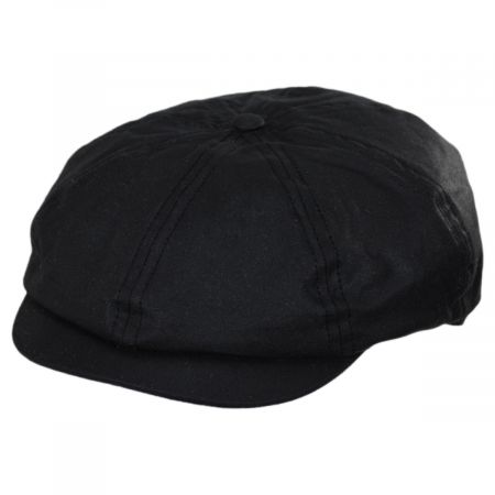 British Millerain Wax Cotton Newsboy Cap