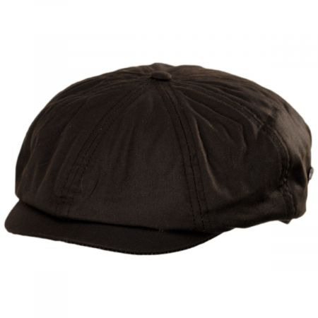 British Millerain Wax Cotton Newsboy Cap alternate view 5
