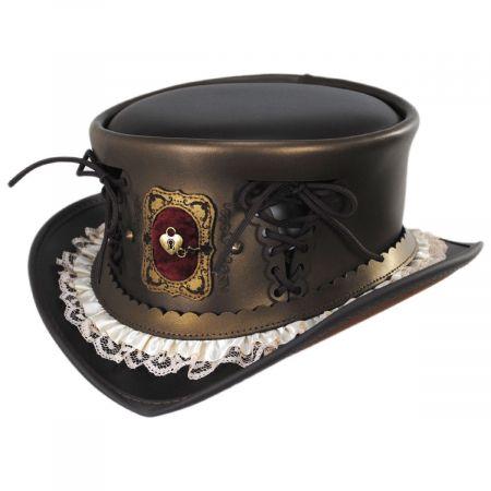 Keepsake Leather Top Hat