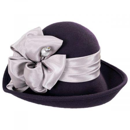 Kathy Jeanne Roller Wool Felt Dip Brim Hat
