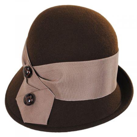 Kathy Jeanne Tuxedo Trim Profile Wool Felt Cloche Hat - Made to Order