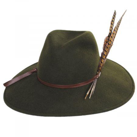 Trio Pheasant Feather Wool Felt Fedora Hat