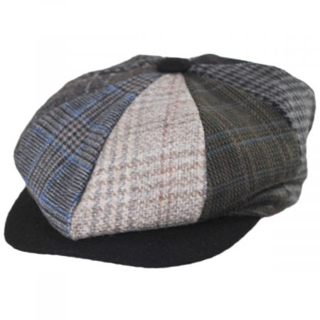 Stacy Adams Parma Patchwork Wool Blend Newsboy Cap
