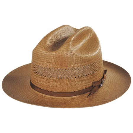 Open Road Shantung Vented Straw Western Hat
