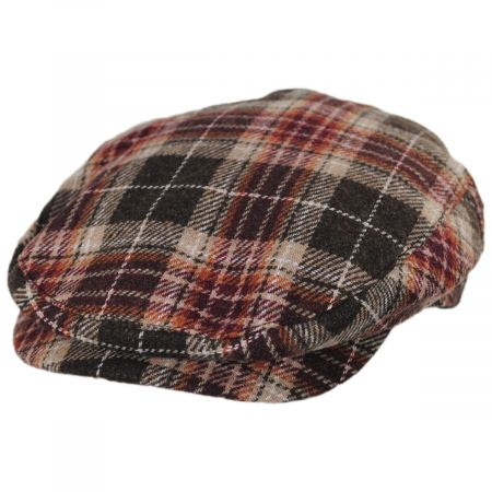 Brixton Hats Hooligan Plaid Wool Blend Ivy Cap
