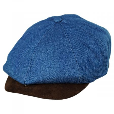 Brixton Hats Brood Cotton and Suede Newsboy Cap