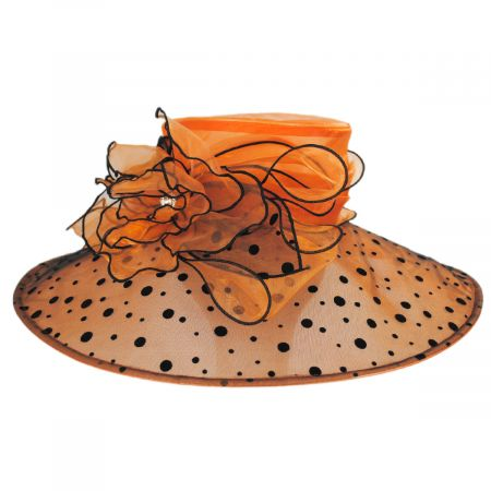 Sophia Peppered Boater Hat