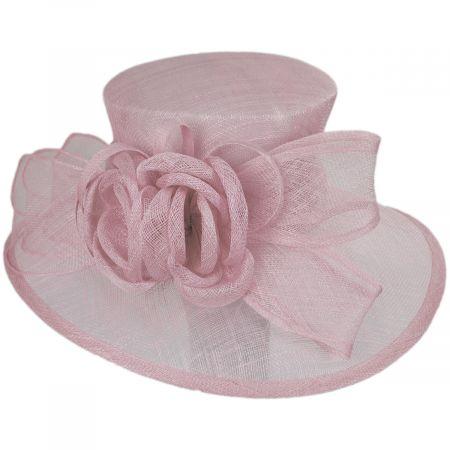 Deux Fleurs Sinamay Straw Boater Hat