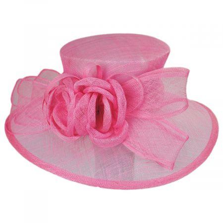 Sophia Deux Fleurs Sinamay Straw Boater Hat