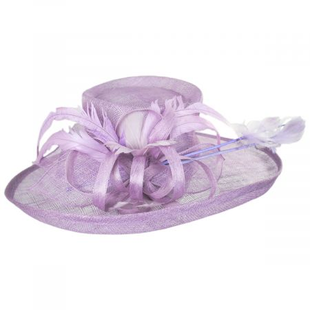 Demure Sinamay Boater Hat