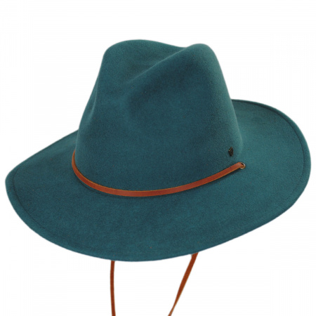 Field Wool Felt Wide Brim Fedora Hat