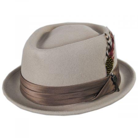 Brixton Hats Stout D-Crown Wool Felt Fedora Hat
