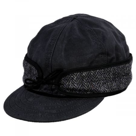 Stormy Kromer Wax Cotton Harris Tweed Cap