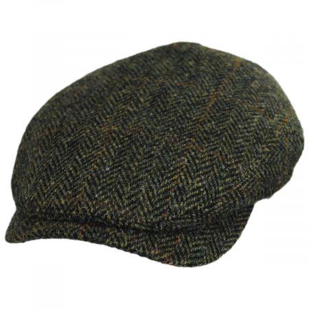 Wigens Caps Herringbone Check Harris Tweed Wool Ivy Cap