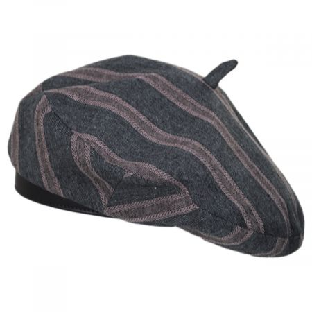 Brixton Hats Audrey II Striped Linen Blend Beret