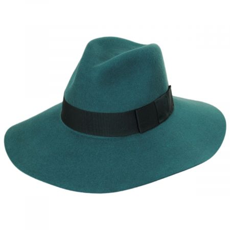 Brixton Hats Piper Floppy Wool Felt Fedora Hat