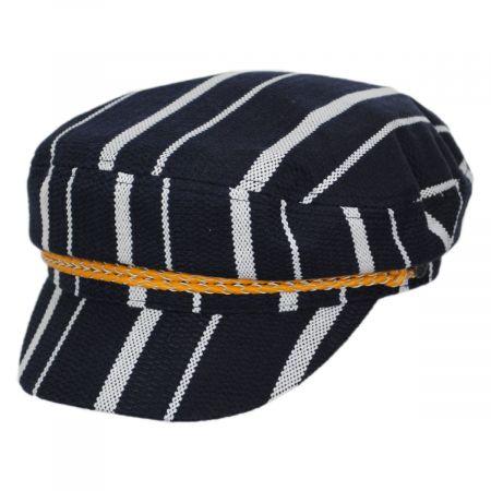 Brixton Hats Ashland Stripe Cotton Blend Fiddler Cap